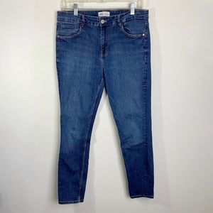 Zara High Rise Skinny Cropped Jeans Size 10